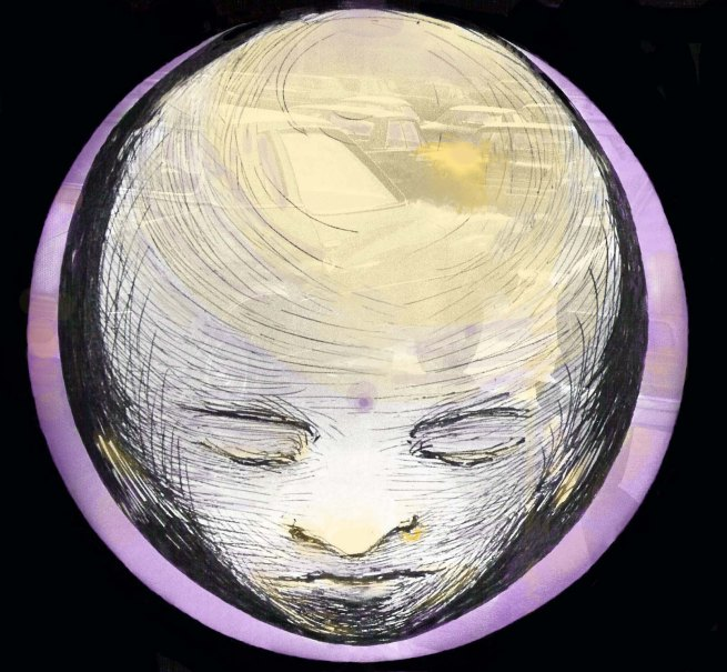 Violet buddha